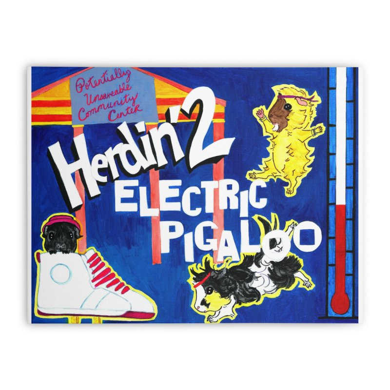 Herdin' 2: Electric Pigaloo Home Stretched Canvas by Guinea Pigs and Books