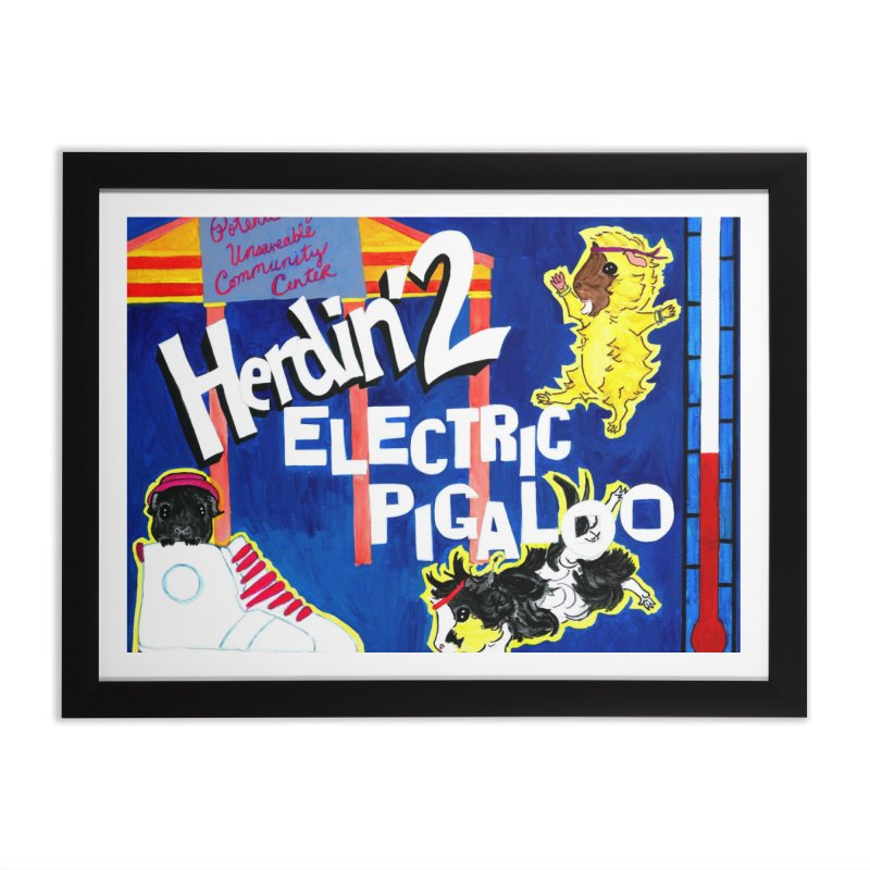 Herdin' 2: Electric Pigaloo Home Framed Fine Art Print by Guinea Pigs and Books