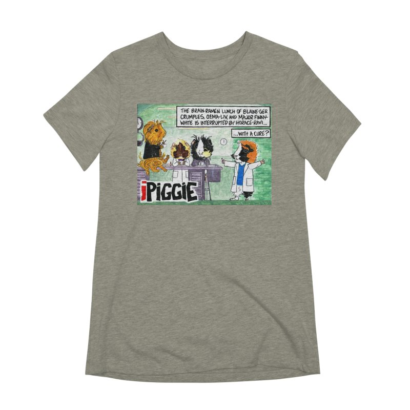 iPiggie Women's Extra Soft T-Shirt by Guinea Pigs and Books