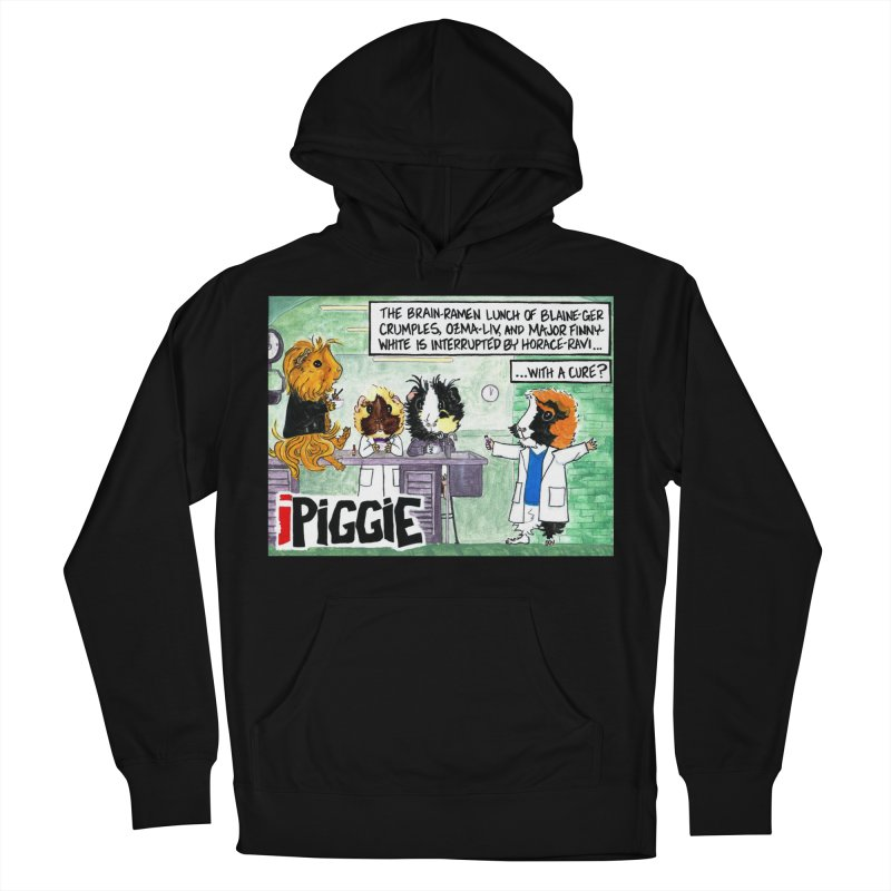 iPiggie Men's French Terry Pullover Hoody by Guinea Pigs and Books
