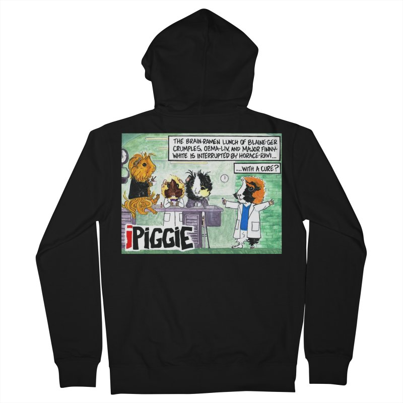 iPiggie Women's French Terry Zip-Up Hoody by Guinea Pigs and Books