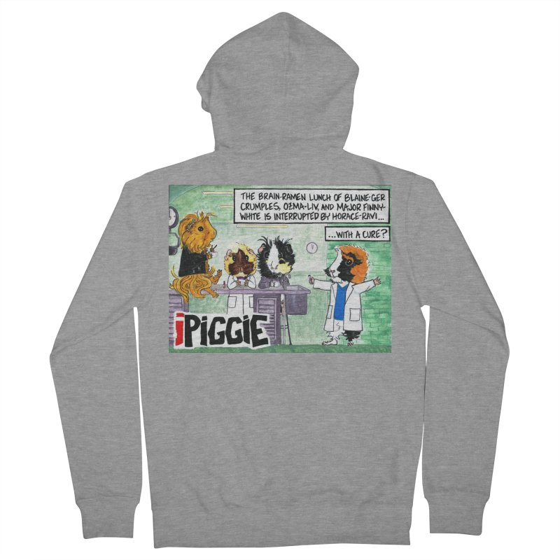 iPiggie Men's French Terry Zip-Up Hoody by Guinea Pigs and Books