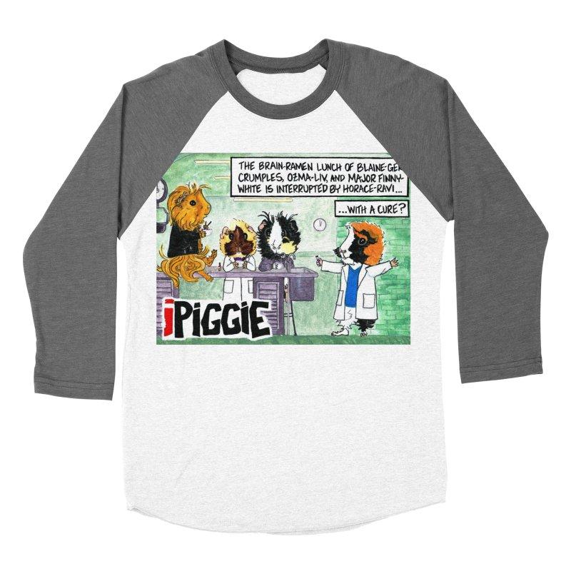 iPiggie Women's Baseball Triblend Longsleeve T-Shirt by Guinea Pigs and Books