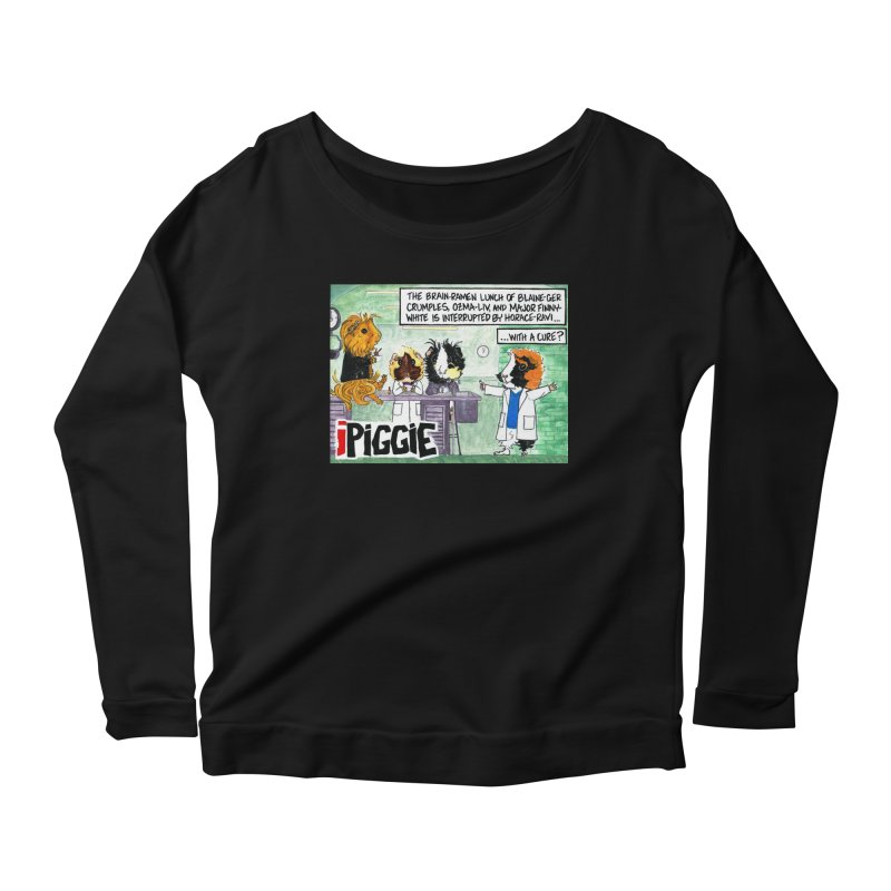 iPiggie Women's Scoop Neck Longsleeve T-Shirt by Guinea Pigs and Books