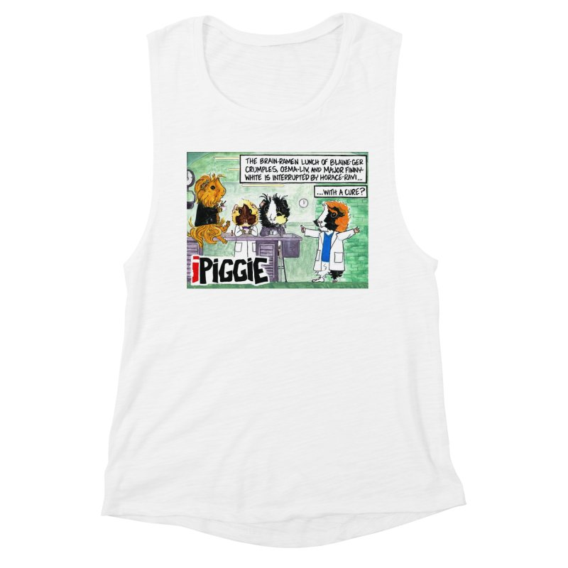 iPiggie Women's Muscle Tank by Guinea Pigs and Books