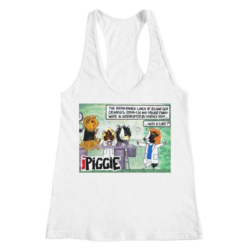 iPiggie Women's Racerback Tank by Guinea Pigs and Books
