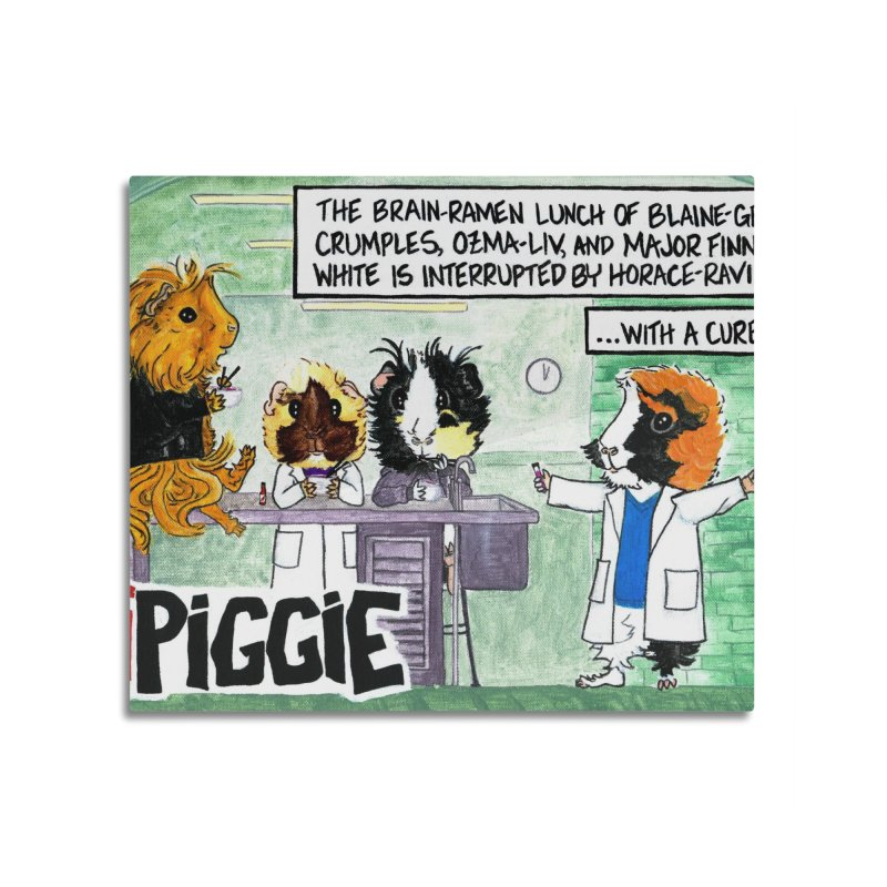 iPiggie Home Mounted Acrylic Print by Guinea Pigs and Books