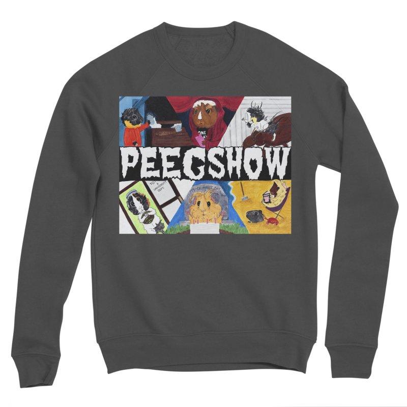 Peegshow Women's Sponge Fleece Sweatshirt by Guinea Pigs and Books