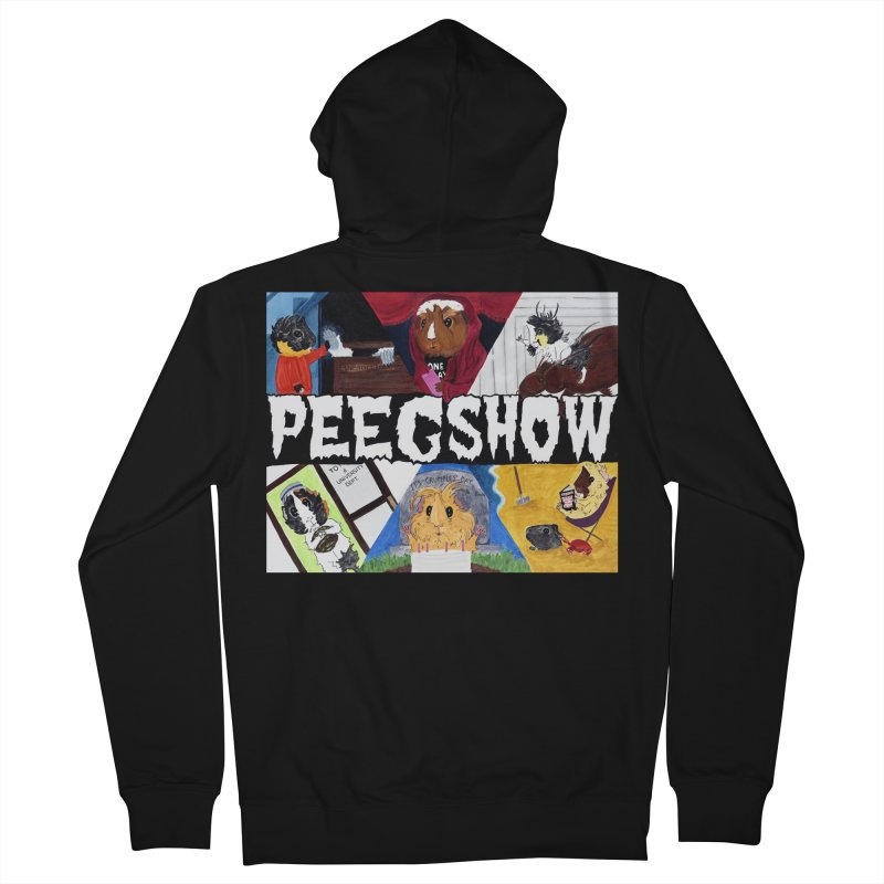 Peegshow Men's French Terry Zip-Up Hoody by Guinea Pigs and Books