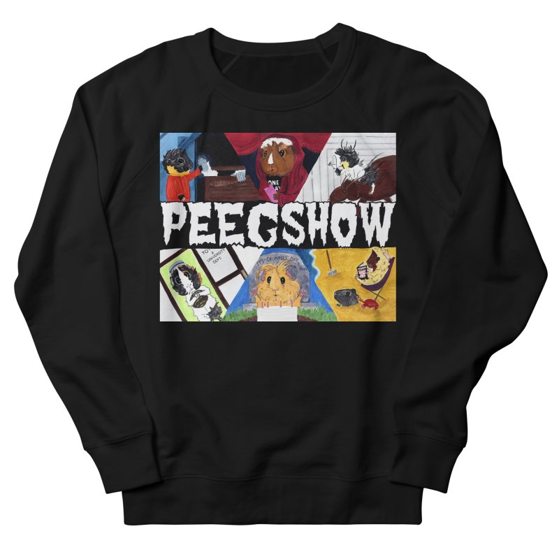 Peegshow Men's French Terry Sweatshirt by Guinea Pigs and Books