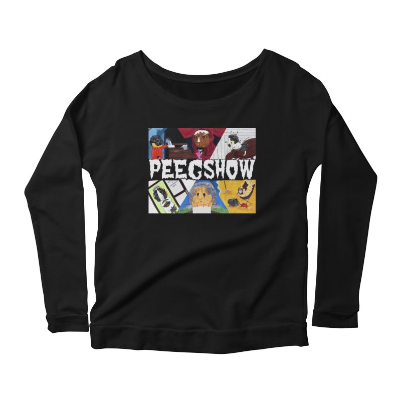 Peegshow Women's Scoop Neck Longsleeve T-Shirt by Guinea Pigs and Books