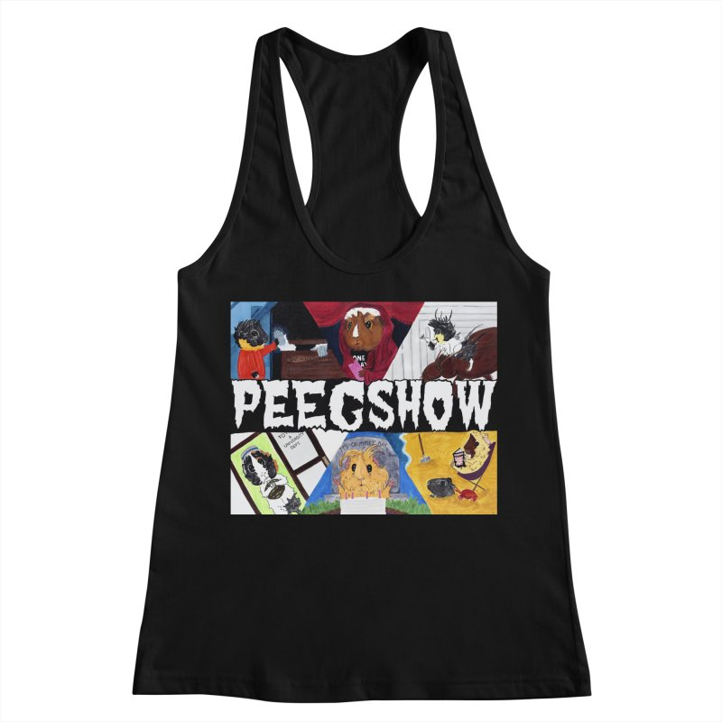 Peegshow Women's Racerback Tank by Guinea Pigs and Books