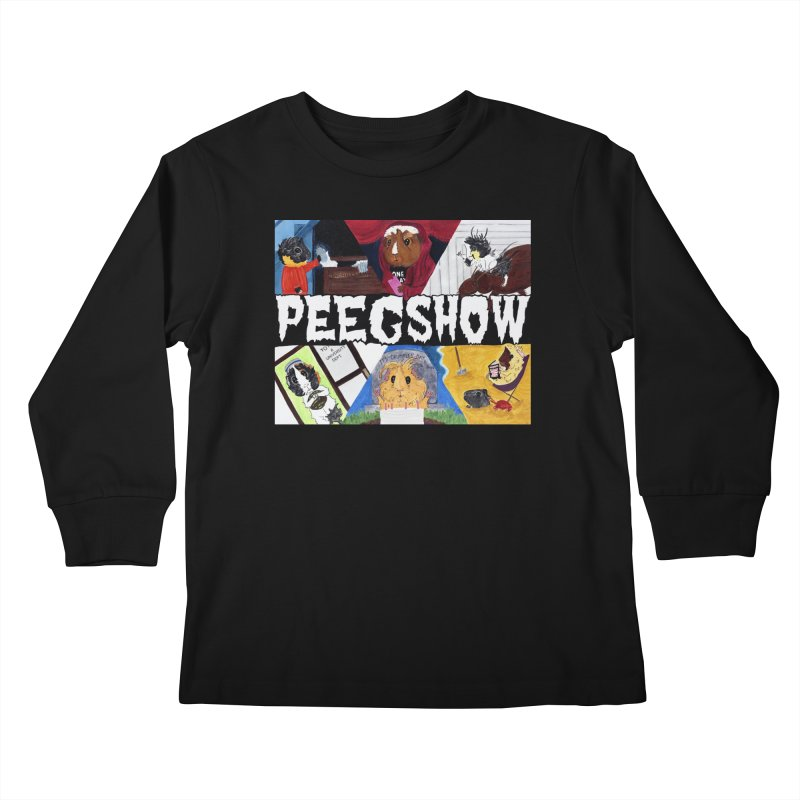 Peegshow Kids Longsleeve T-Shirt by Guinea Pigs and Books