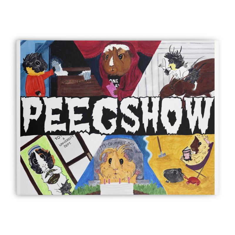 Peegshow Home Stretched Canvas by Guinea Pigs and Books