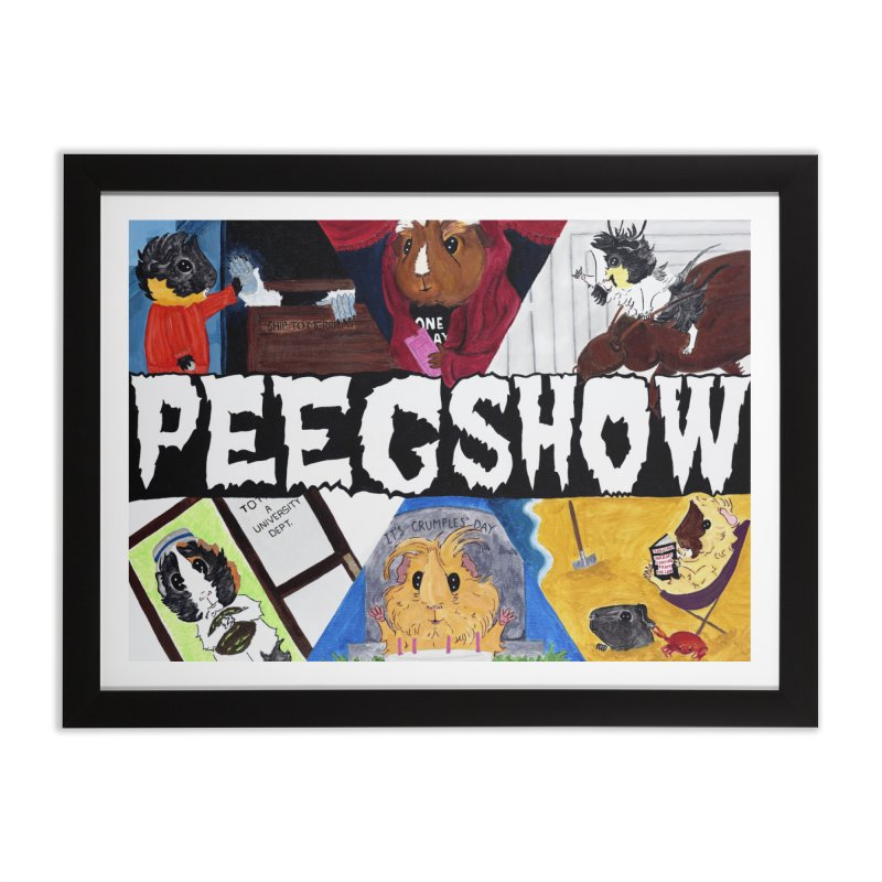 Peegshow Home Framed Fine Art Print by Guinea Pigs and Books