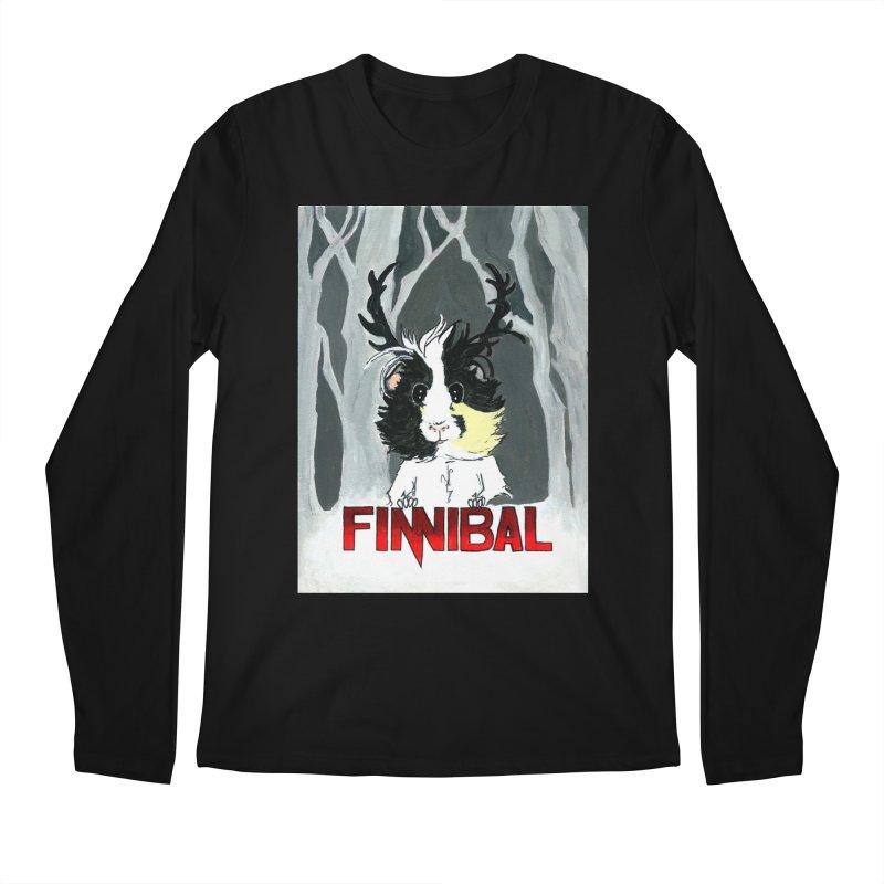 Finnibal Men's Regular Longsleeve T-Shirt by Guinea Pigs and Books