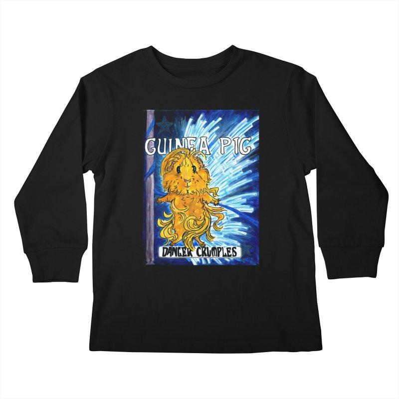 Danger Crumples Nouveau Kids Longsleeve T-Shirt by Guinea Pigs and Books