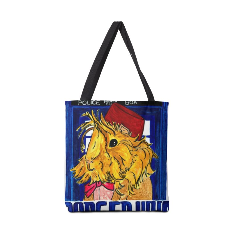 Danger Who, the Eleventh Guinea Pig Doctor Accessories Tote Bag Bag by Guinea Pigs and Books