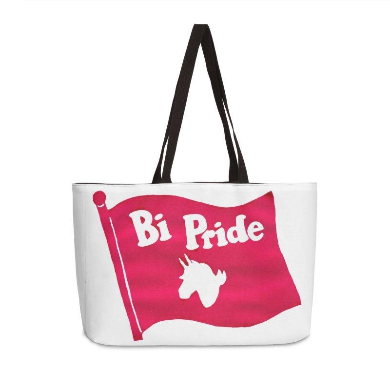 Binicorn Bi Pride Flag Accessories Weekender Bag Bag by Guinea Pigs and Books
