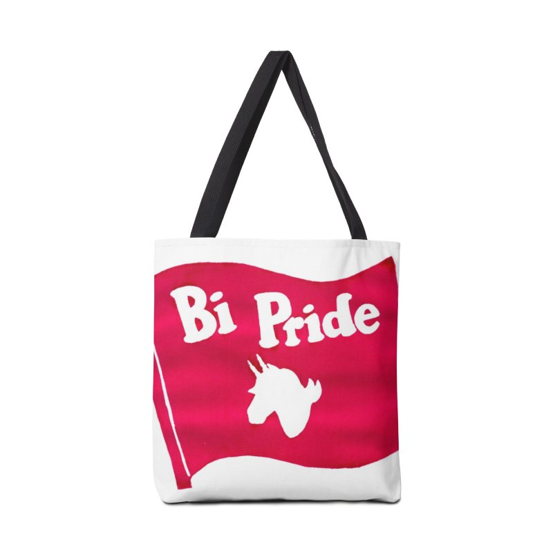 Binicorn Bi Pride Flag Accessories Tote Bag Bag by Guinea Pigs and Books