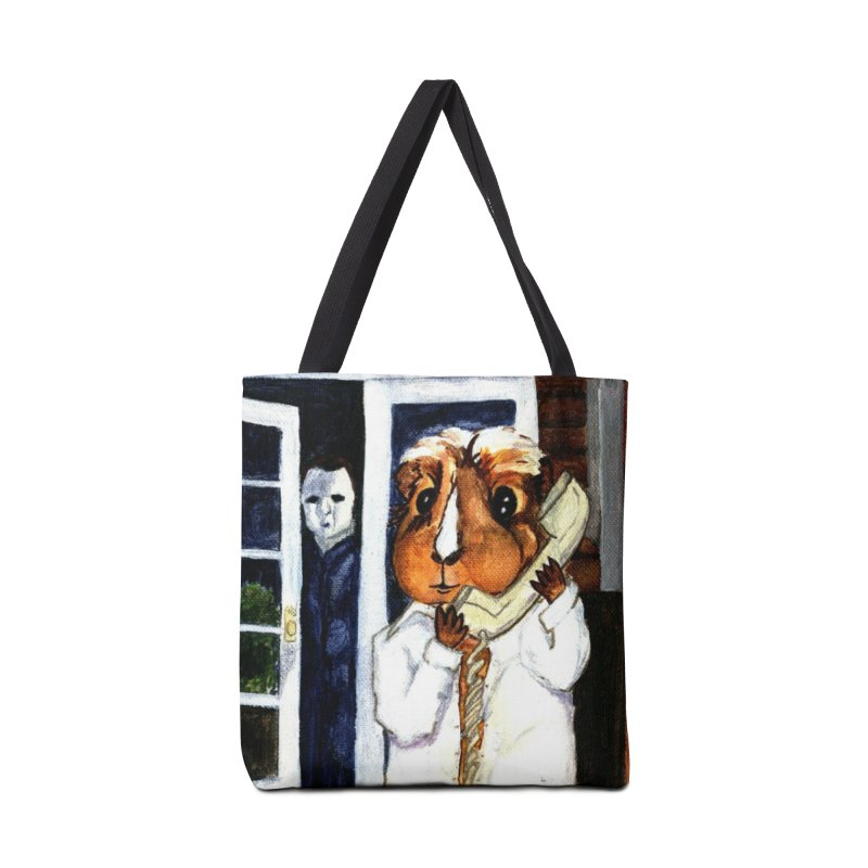 Pigoween - Peregrine is on the Phone Accessories Tote Bag Bag by Guinea Pigs and Books