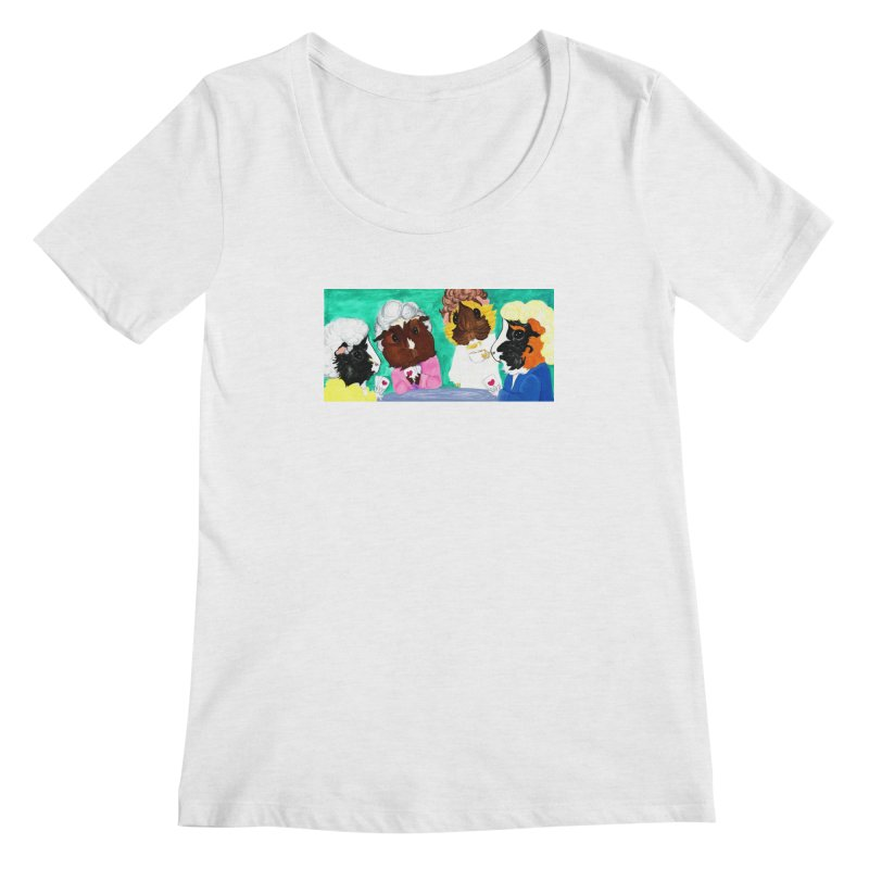 Thank you for being a friend Women's Regular Scoop Neck by Guinea Pigs and Books
