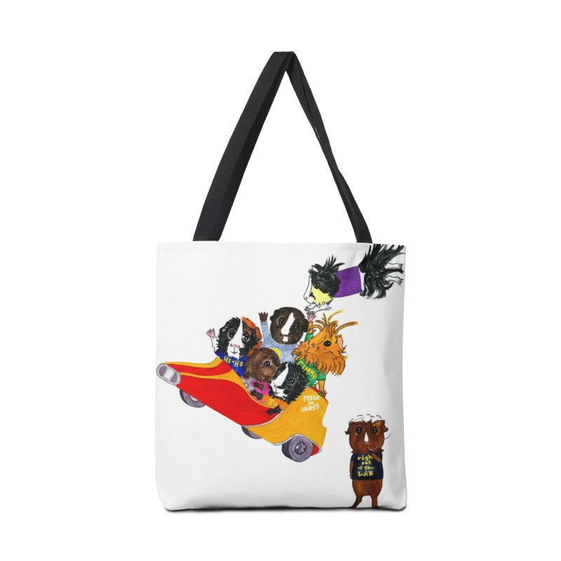 Peegs in Shirts Accessories Tote Bag Bag by Guinea Pigs and Books