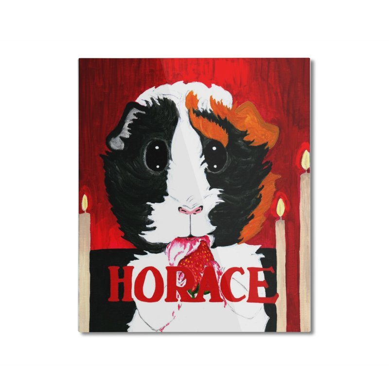 Horace Home Mounted Aluminum Print by Guinea Pigs and Books