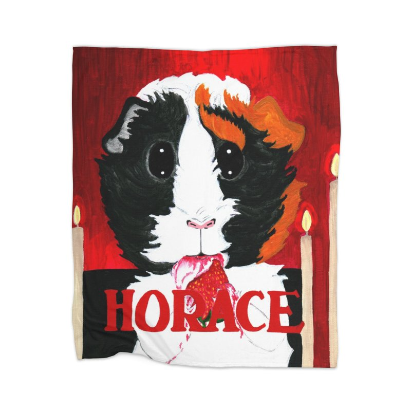 Horace Home Fleece Blanket Blanket by Guinea Pigs and Books