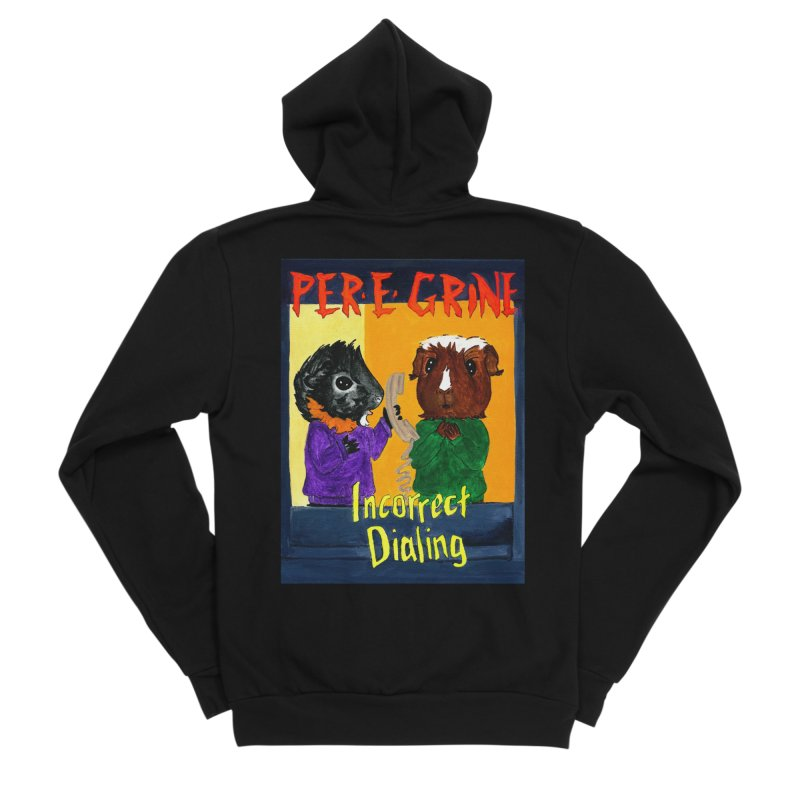 Incorrect Dialing Women's Sponge Fleece Zip-Up Hoody by Guinea Pigs and Books