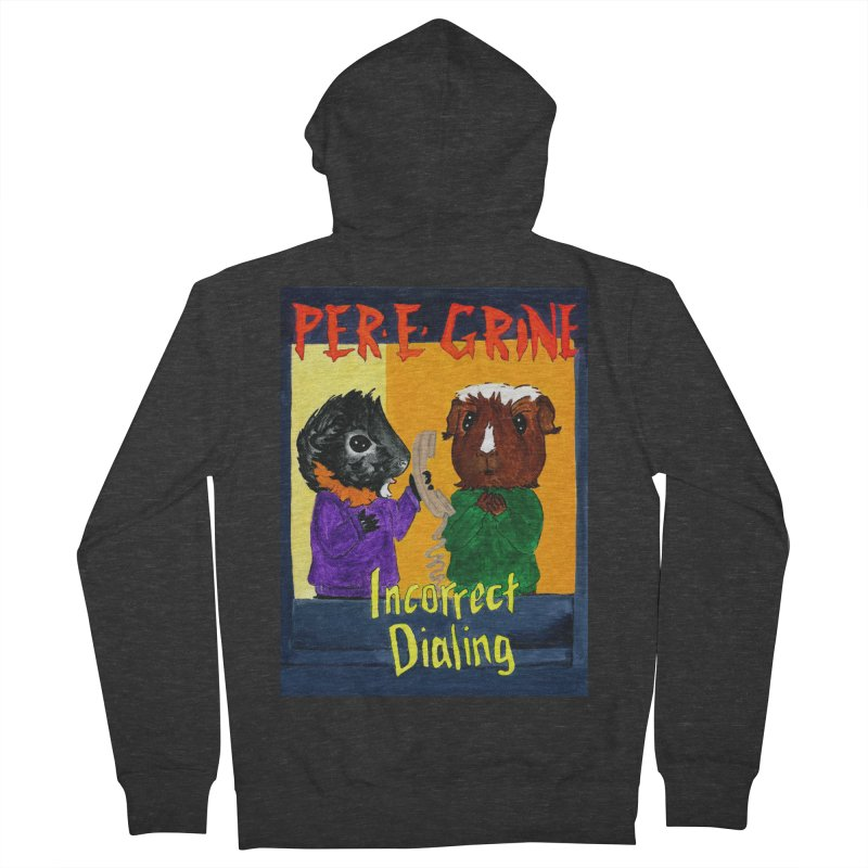 Incorrect Dialing Men's French Terry Zip-Up Hoody by Guinea Pigs and Books