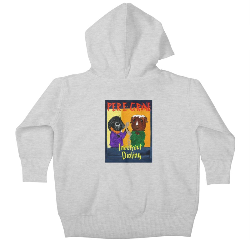 Incorrect Dialing Kids Baby Zip-Up Hoody by Guinea Pigs and Books