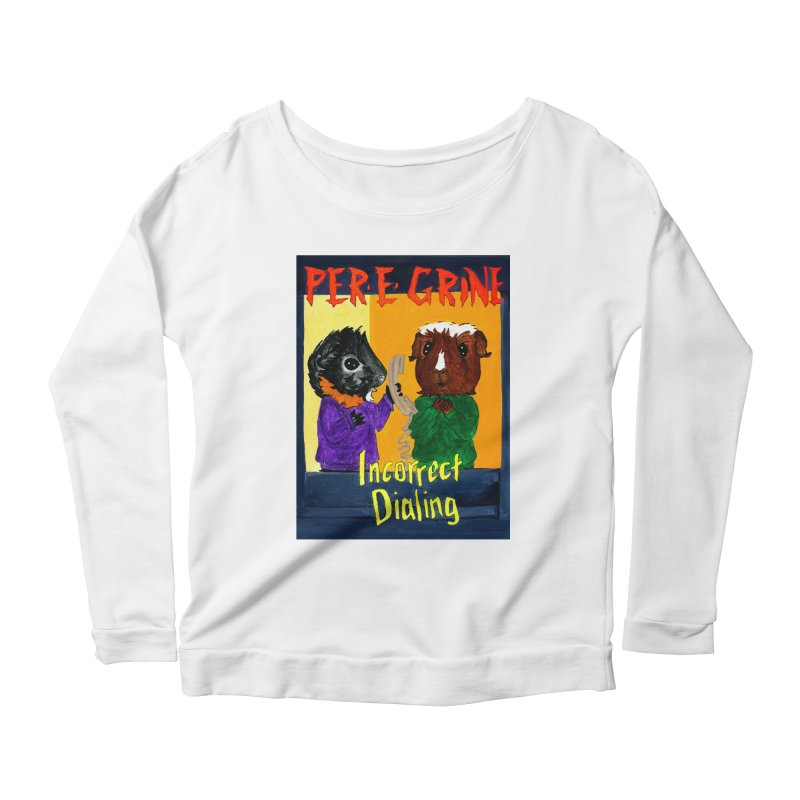 Incorrect Dialing Women's Scoop Neck Longsleeve T-Shirt by Guinea Pigs and Books