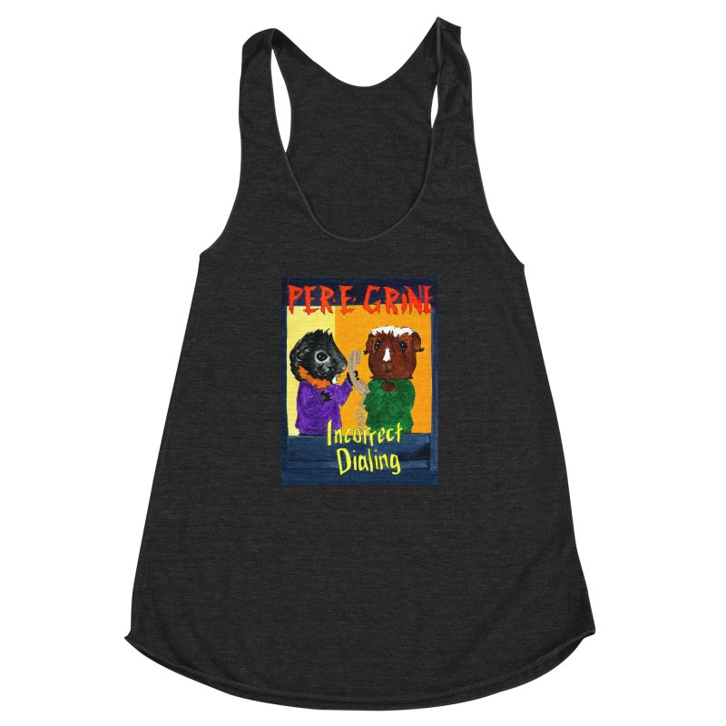 Incorrect Dialing Women's Racerback Triblend Tank by Guinea Pigs and Books