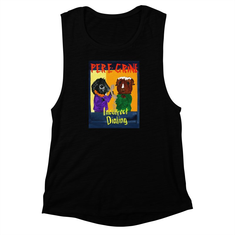 Incorrect Dialing Women's Muscle Tank by Guinea Pigs and Books