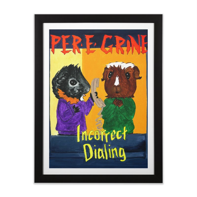 Incorrect Dialing Home Framed Fine Art Print by Guinea Pigs and Books