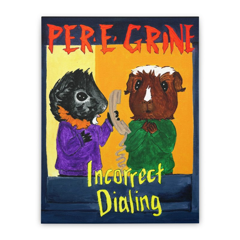 Incorrect Dialing Home Stretched Canvas by Guinea Pigs and Books
