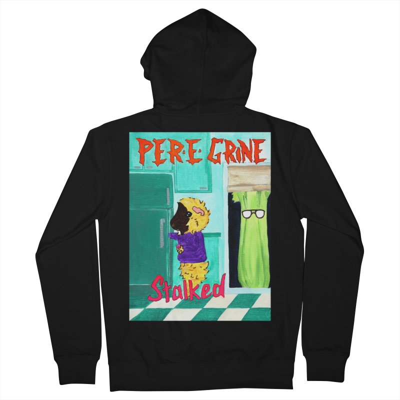 Stalked Men's French Terry Zip-Up Hoody by Guinea Pigs and Books