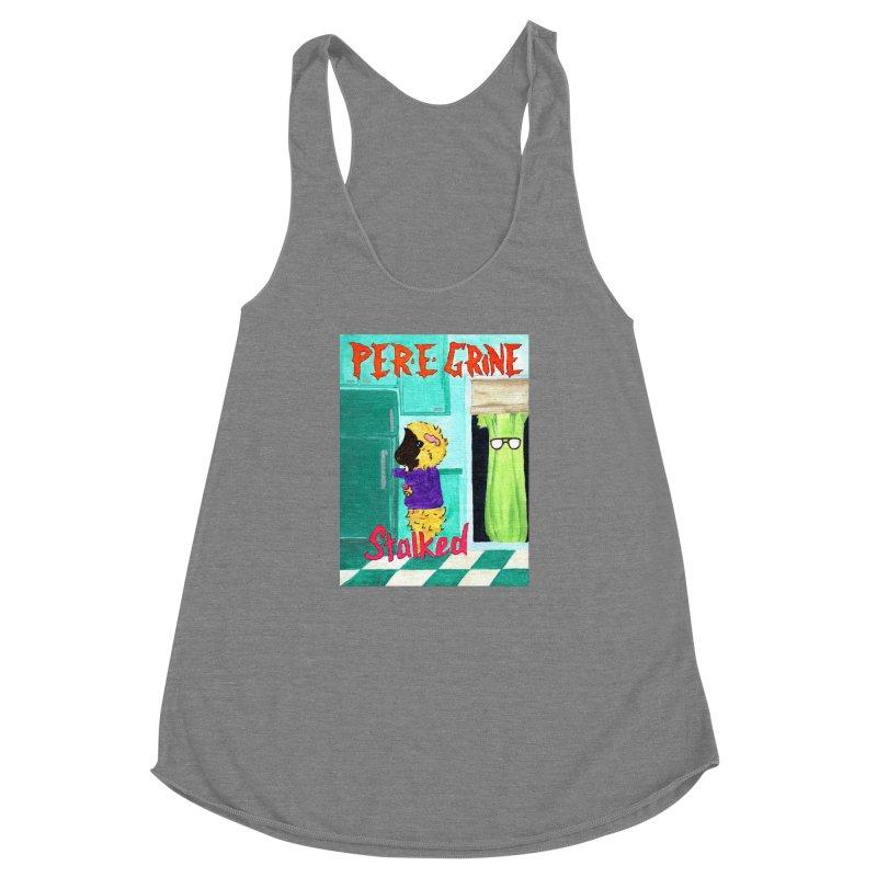 Stalked Women's Racerback Triblend Tank by Guinea Pigs and Books