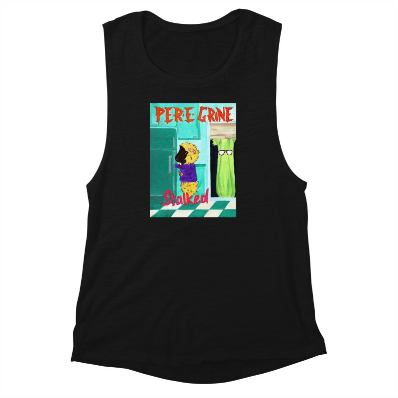 Stalked Women's Muscle Tank by Guinea Pigs and Books