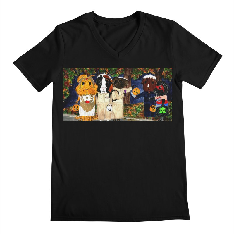 Danger Things II: Strange Things Are Afoot Men's Regular V-Neck by Guinea Pigs and Books