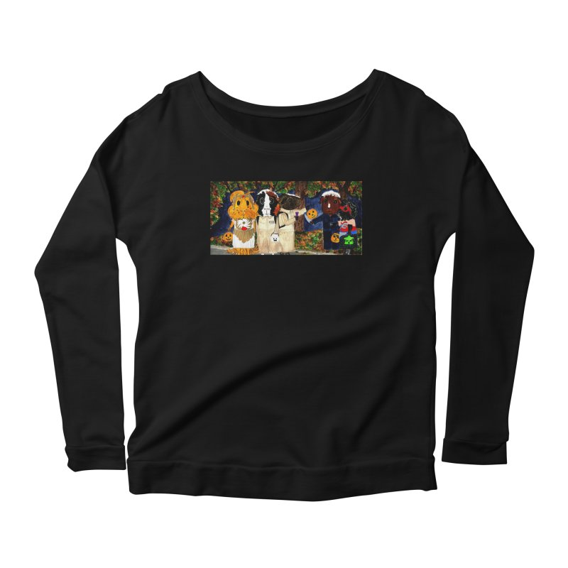 Danger Things II: Strange Things Are Afoot Women's Scoop Neck Longsleeve T-Shirt by Guinea Pigs and Books