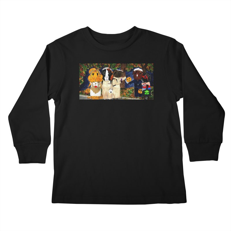 Danger Things II: Strange Things Are Afoot Kids Longsleeve T-Shirt by Guinea Pigs and Books