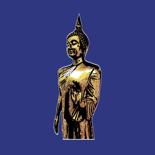 Design for the standing buddha