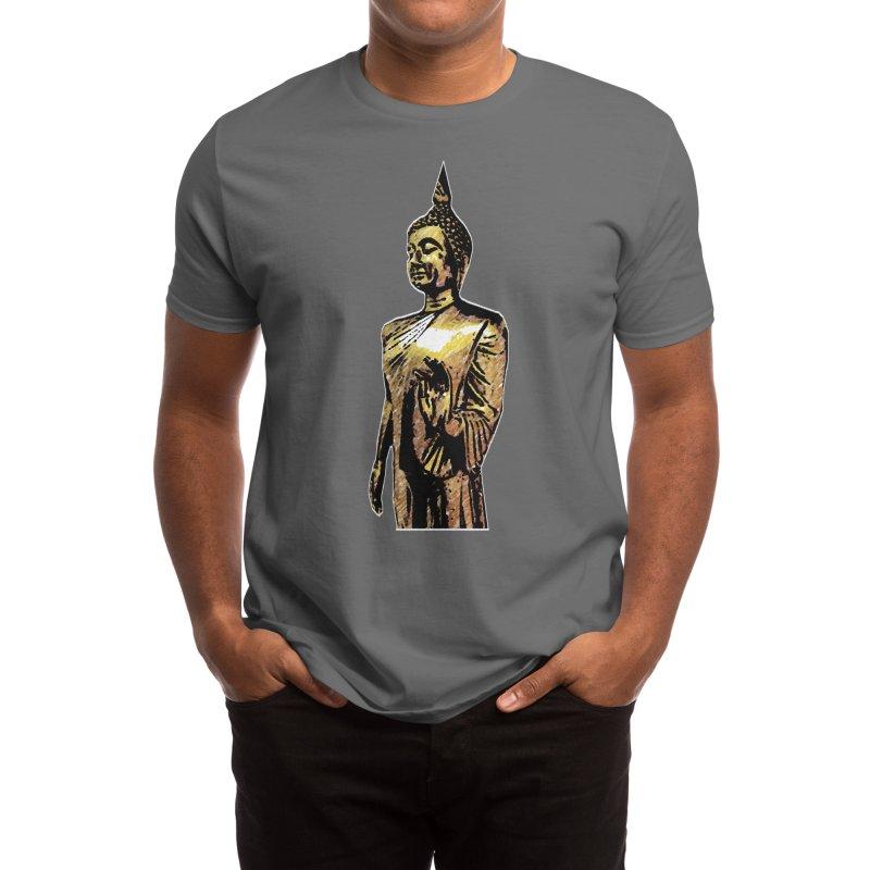 the standing buddha Men's T-Shirt by gulayfather's Artist Shop