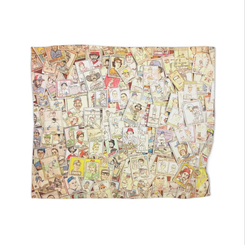 Card Collage 1 Home Fleece Blanket Blanket by The Gummy Arts Shop