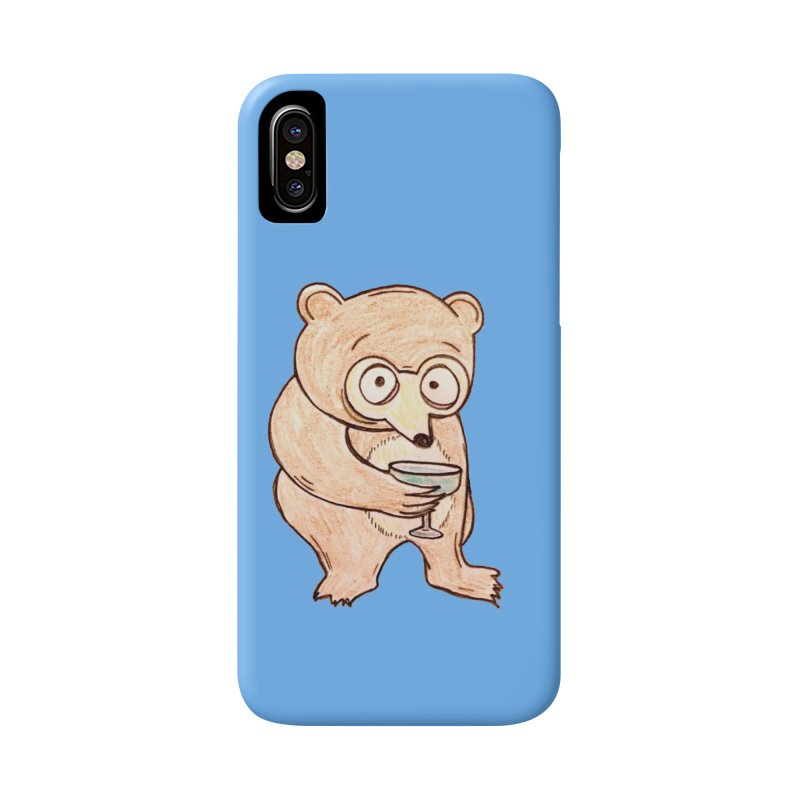 Sad Bear Margarita Accessories Phone Case by The Gummy Arts Shop