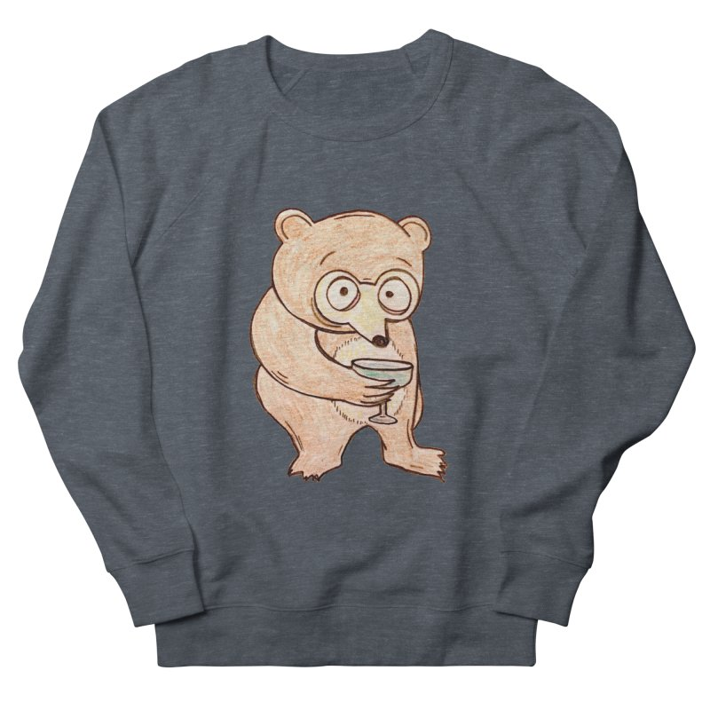 Sad Bear Margarita Women's French Terry Sweatshirt by The Gummy Arts Shop