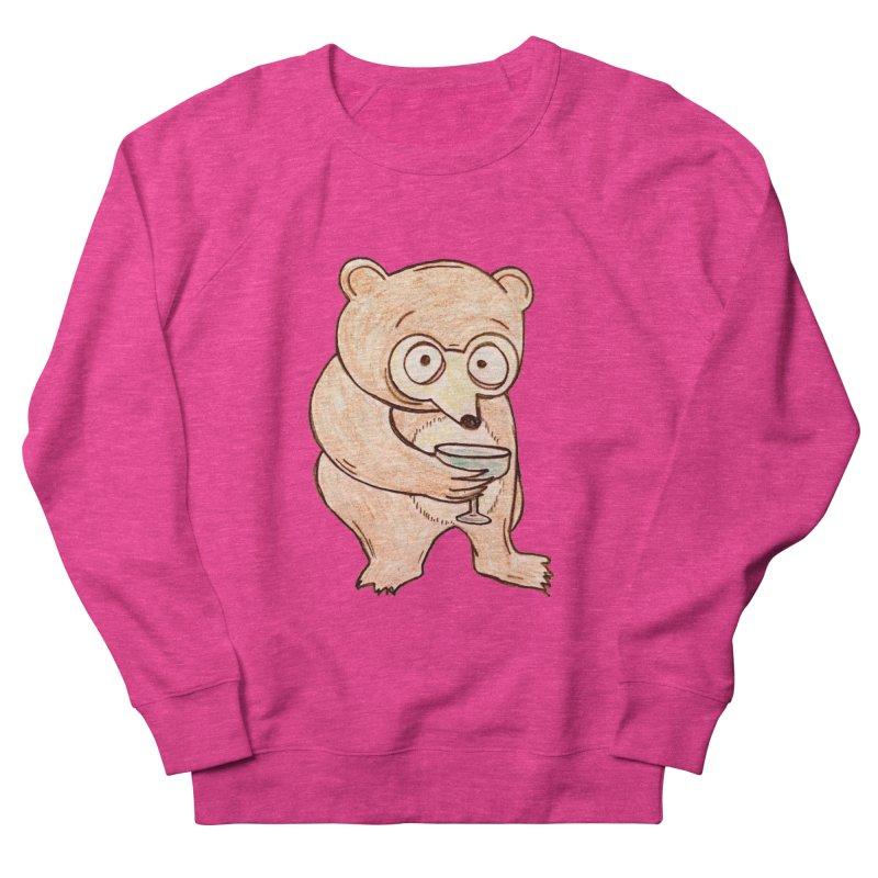 Sad Bear Margarita Women's French Terry Sweatshirt by The Gummy Arts Shop