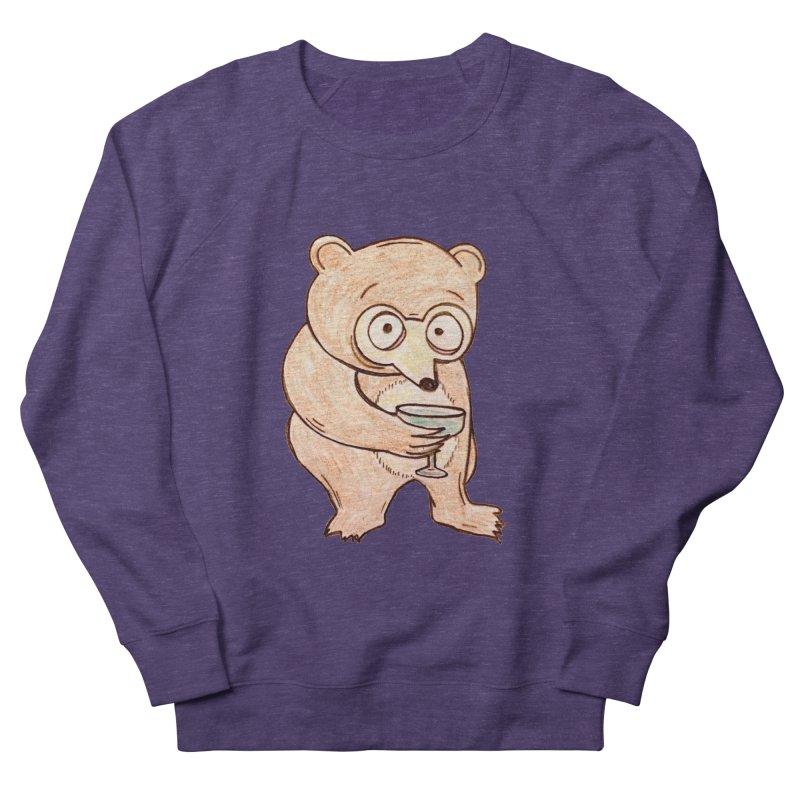 Sad Bear Margarita Men's French Terry Sweatshirt by The Gummy Arts Shop